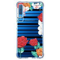 Capa Personalizada Samsung Galaxy A7 2018 Floral - FL33 -