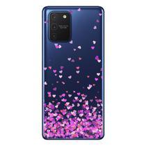 Capa Personalizada Samsung Galaxy S10 Lite G770 - Corações - TP167 - Matecki
