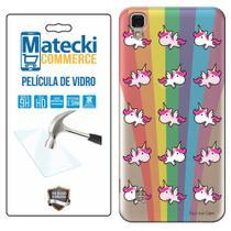 Capa Personalizada Unicórnios + Película de Vidro para LG X Style K200 - Matecki -