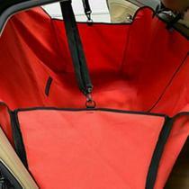 Capa Pet Dobrável Para Carros - Com Cinto De Segurança - Vermelha - King Of Pets