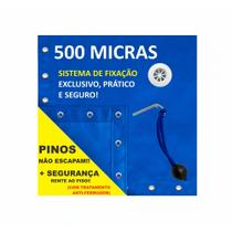 Capa Piscina para Proteção Azul 500 Micras - 7,5x3 - Shoplonas