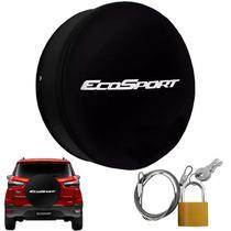 Capa Pneu Roda Estepe Ecosport Universal Cadeado Anti Furto Aro 14 à 17 Carrhel 487 Basic -