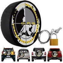 Capa Pneu Roda Estepe Universal com Cadeado Anti Furto Aro 14 à 17 Carrhel 438 Gps Global -