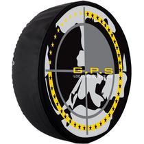 Capa Pneu Roda Estepe Universal com Cadeado Crossfox Ecosport Aircross Doblo Spin Active Tr4 Carrhel -