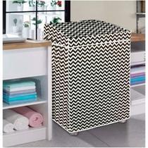 Capa pra máquina de lavar estampada zigzag tamanho p - Vida Prátika