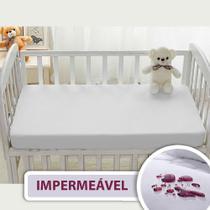 Capa Protetor De Colchão Berço Americano Bebê Impermeável Algodão Antialérgico Antiácaro 70x130 - Kacyumara