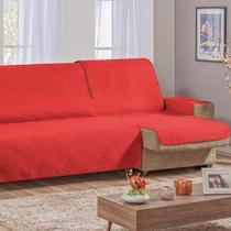 Capa Protetor De Sofá Retrátil Assento Até 1,80m Vermelho - Guilherme Confecções