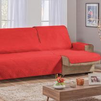 Capa Protetor De Sofá Retrátil Assento Até 2,40m Vermelho - Guilherme Confecções