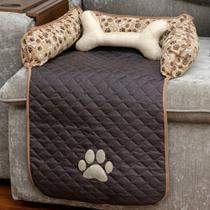 Capa Protetor Sofá Pet Impermeável Cachorro Pequeno - Tabaco - Charme Do Detalhe
