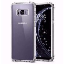 Capa Protetora Anti Impacto Transparente + Película De Gel Para Celular Samsung Galaxy S8 - S/M