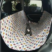 Capa Protetora Banco de Carro Pet Cachorro Gato Estampada - Vip capas