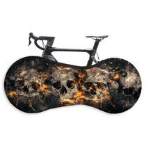 Capa Protetora Cobrir Rodas Bicicleta Bike Estampada Indoor - Caveira Dark - Galeradabike