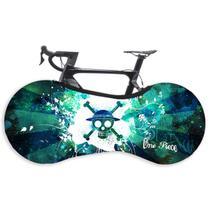 Capa Protetora Cobrir Rodas Bicicleta Bike Estampada Indoor - Caveira Green - Galeradabike