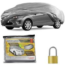 Capa Protetora para Cobrir Carro Impermeável Forrada Proteção UV Tamanho G com Cadeado + Cabo de Aço - Carrhel