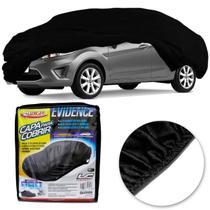 Capa Protetora para Cobrir Carro Luxcar Evidence Universal Preto com Elástico -