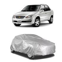 Capa protetora poeira chuva sol cobrir carro chevrolet corsa classic forro parcial impermeável - Zc