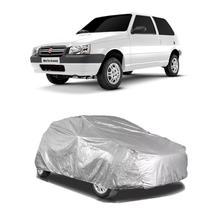 Capa protetora poeira chuva sol cobrir carro fiat uno forro parcial impermeável - Zc
