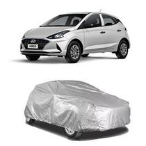 Capa protetora poeira chuva sol cobrir carro hyundai hb20 forro parcial impermeável - Zc