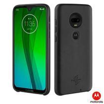 Capa Protetora Skin para Moto G7 Preta Motorola - MMBKC1063I -