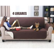 Capa Protetora Sofa 4 Lugares Pet Cachorro Gato Comida Bebida - Ab Midia