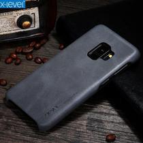 "Capa Protetora X-Level Vintage Couro PU para Samsung Galaxy S9 5.8"" - Preto -"