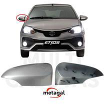 Capa Retrovisor Dire Toyota Etios 2013 a 2020 Prata Original - Metagal