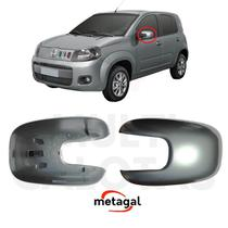 Capa Retrovisor Esq Fiat Uno 2010 a 2019 Cinza Original - Metagal