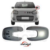 Capa Retrovisor Esq Fiat Uno 2010 a 2019 Prata Original - Metagal