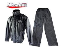 Capa Roupa Chuva Vestimenta Vestuário Jaqueta Calça Delta Nylon Preta Moto Motoqueiro -