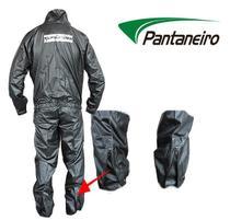 Capa Roupa Chuva Vestimenta Vestuário Jaqueta Calça Pantaneiro Nylon Preta Moto Motoqueiro -
