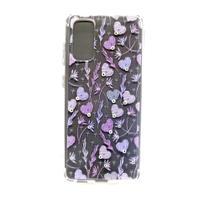 capa Samsung Galaxy S20 6.2' cristal estillo anti impacto feminina corações rosa arabesco -