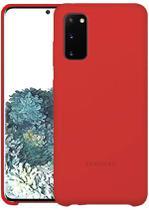 Capa Samsung Galaxy S20 Silicone Premium Interior Aveludado - Vermelho - Silicone Case