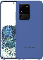 Capa Samsung Galaxy S20 Ultra Silicone Premium Interior Aveludado - Azul Petróleo - Silicone Case