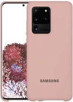 Capa Samsung Galaxy S20 Ultra Silicone Premium Interior Aveludado - Rosa Iogurte - Silicone Case