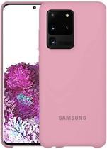 Capa Samsung Galaxy S20 Ultra Silicone Premium Interior Aveludado - Rosa Quartzo - Silicone Case