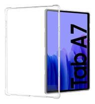 "Capa Silicone Galaxy Tab A7 Sm -t500 T505 T507 10,4"" Transparente + Caneta - Fam"