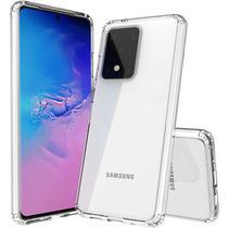 Capa Slim Flexível Transparente Samsung Galaxy S20 6.2 + Película De Gel Cobre 100% - Dv Acessorios