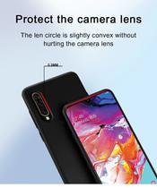 Capa Slim Fosca (Preta) Premium Samsung Galaxy A70 + 01 Película De Gel Cobre 100% Tela - Dv Acessorios