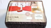 Capa sofa sanchez marron 2/3* - Ratinho