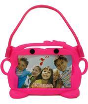 Capa Tablet 7 Suporte Veicular Universal Encosto Carro Infantil Bichinho Rosa - Fam