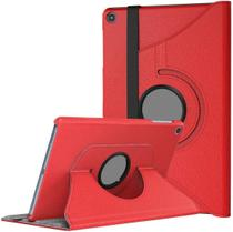 Capa Tablet Samsung Galaxy Tab A 10.1 T510 T515 Giratória Rotativa Vermelha - Fam
