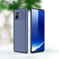 Capa Tpu Carbon Samsung Galaxy S10 Lite  Azul - Oem