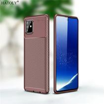 Capa Tpu Carbon Samsung Galaxy S10 Lite  Marrom - Oem