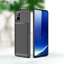 Capa Tpu Carbon Samsung Galaxy S10 Lite  Preto - Oem