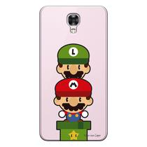 Capa Transparente Personalizada Exclusiva LG X Screen Totem Super Mario  - TP60