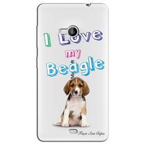 Capa Transparente Personalizada Exclusiva Microsoft Lumia 535 Beagle - TP68 -
