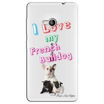Capa Transparente Personalizada Exclusiva Microsoft Lumia 535 French Bulldog - TP67 -
