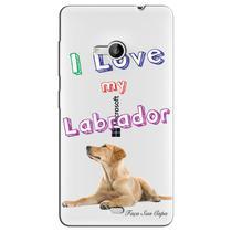 Capa Transparente Personalizada Exclusiva Microsoft Lumia 535 Labrador - TP77 -