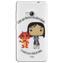 Capa Transparente Personalizada Exclusiva Microsoft Lumia 535 - TP131 -