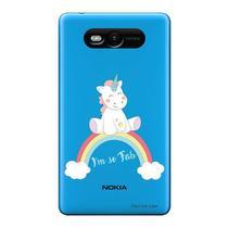Capa Transparente Personalizada para Nokia Lumia N820 Baby Unicórnio - TP312 -
